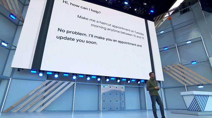 Photo from Google Duplex presentation
