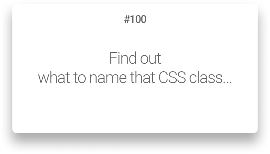 Find out what to name that CSS class…
