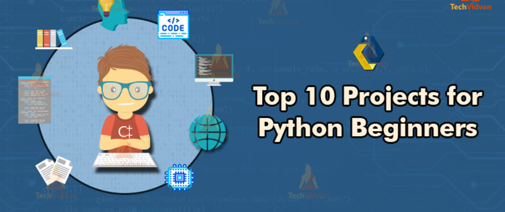 Cover image for Top 10 interesting projects for python beginners