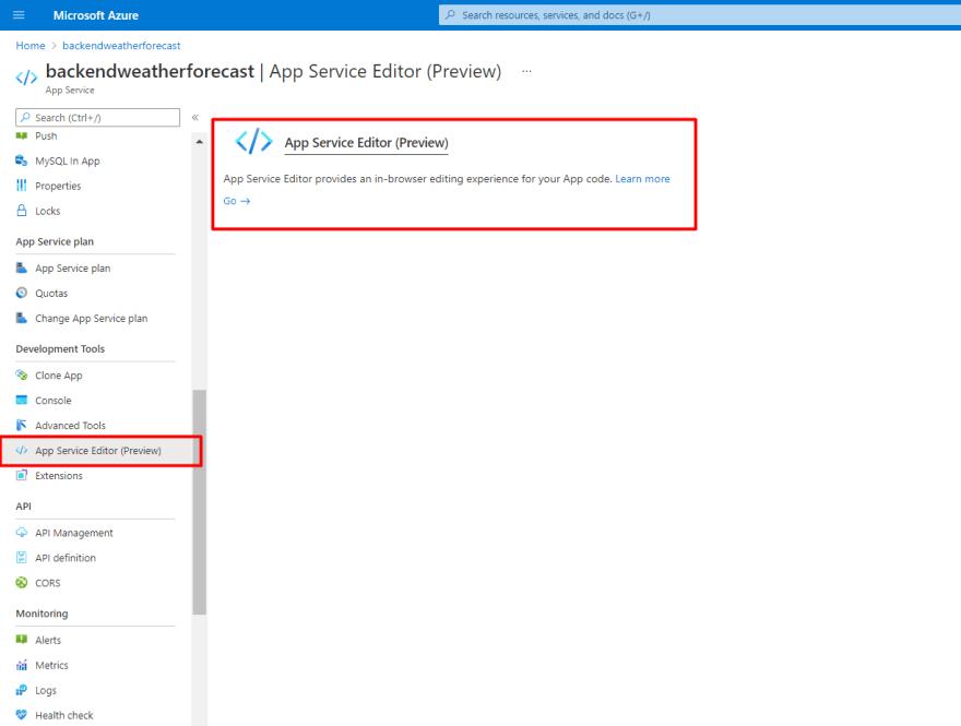 Backend webapp development section