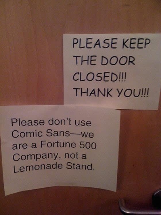 Please don't use Comic Sans