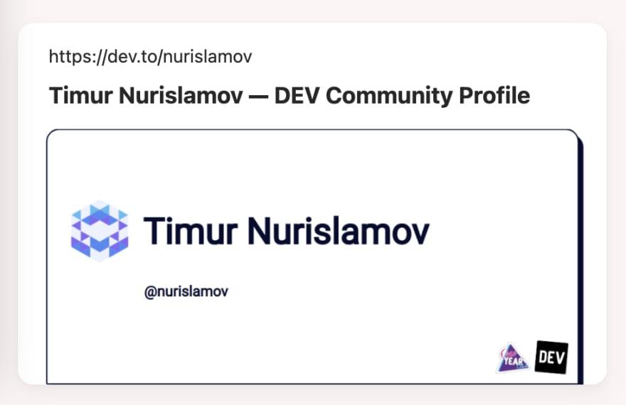 Timur Nurislamov on Dev.to