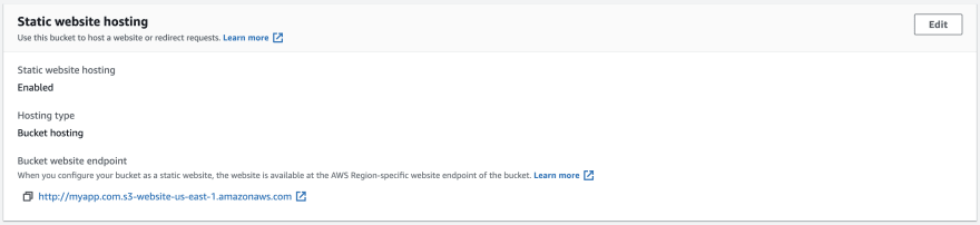 bucket endpoint