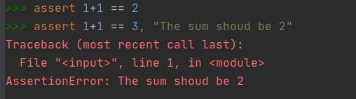 Assert built-in Python