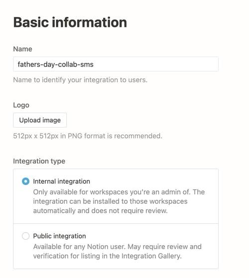 basic info for integration
