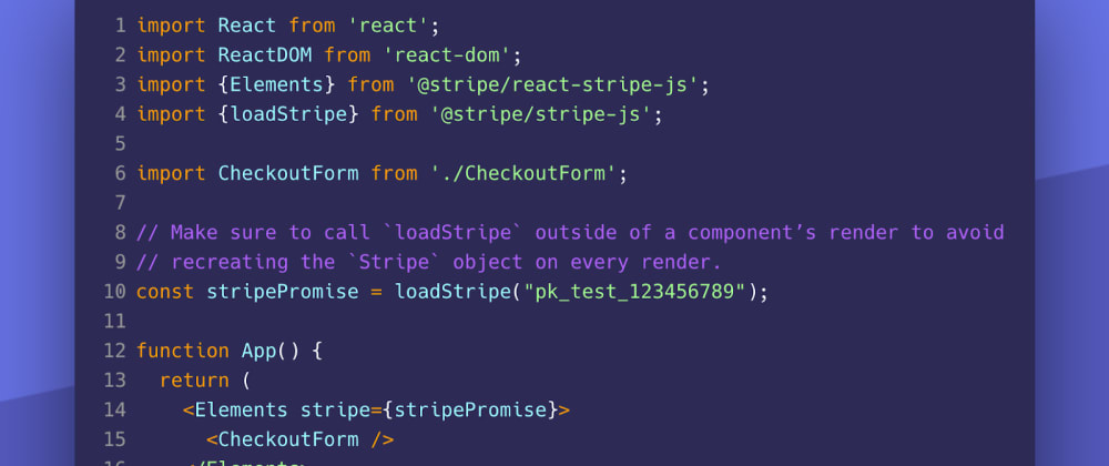 Cover image for Introducing the React Stripe.js library, API updates, and new guides