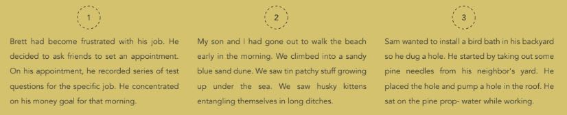 GPT2 generated short stories