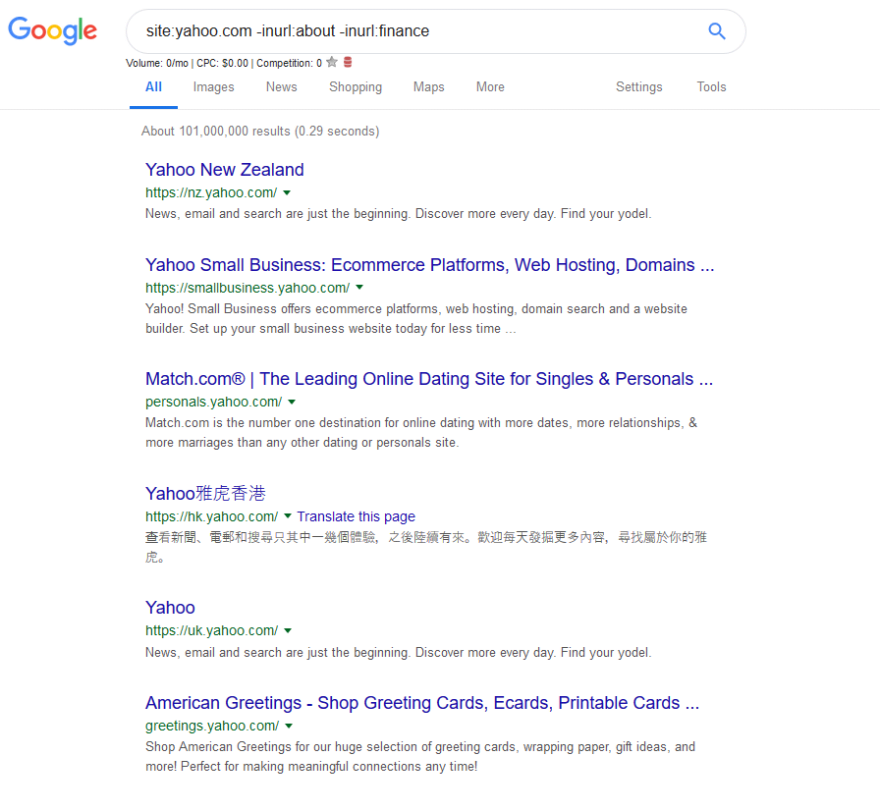 subdomains with google