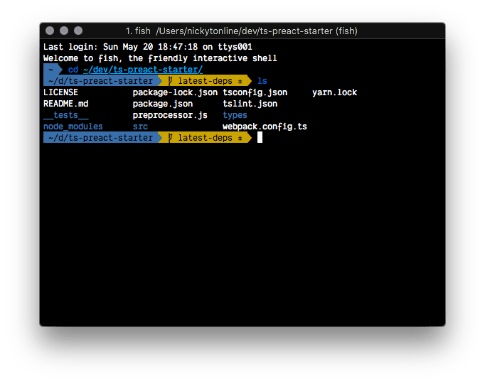 Nick's terminal screenshot