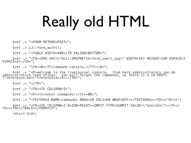 Old HTML