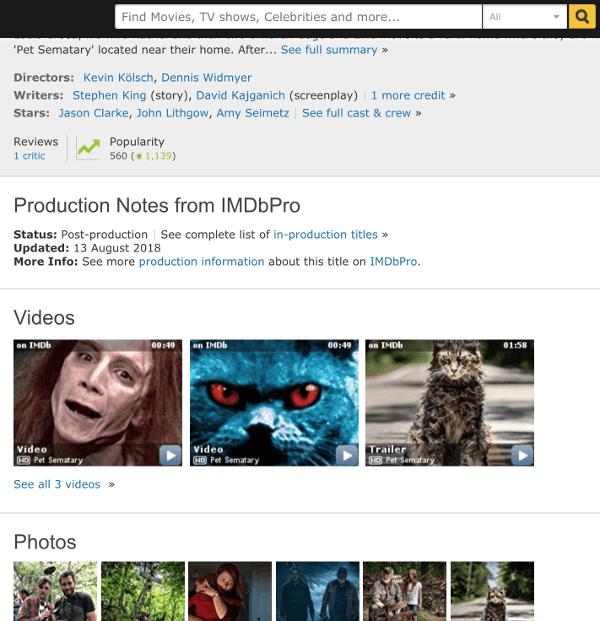 IMDB after