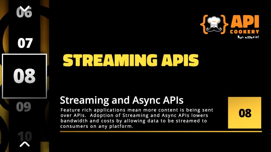2021 API Trends - Streaming APIs