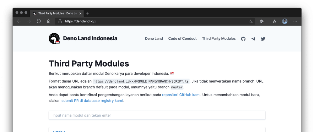 Cover image for I Made a Deno Module Registry Using Next.js, Vercel, and GitHub