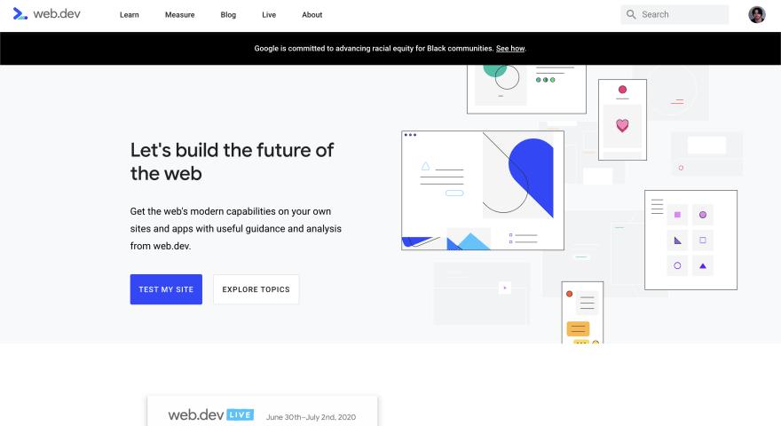 Web.dev screenshot