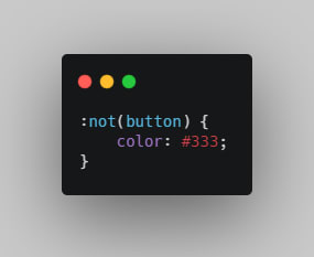 An example of a :not() Selector