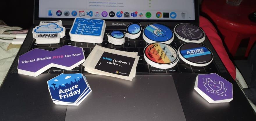 Alt adesivos diversos da Microsoft e Azure
