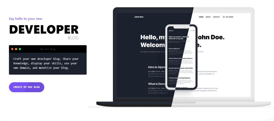 Create a free developer blog