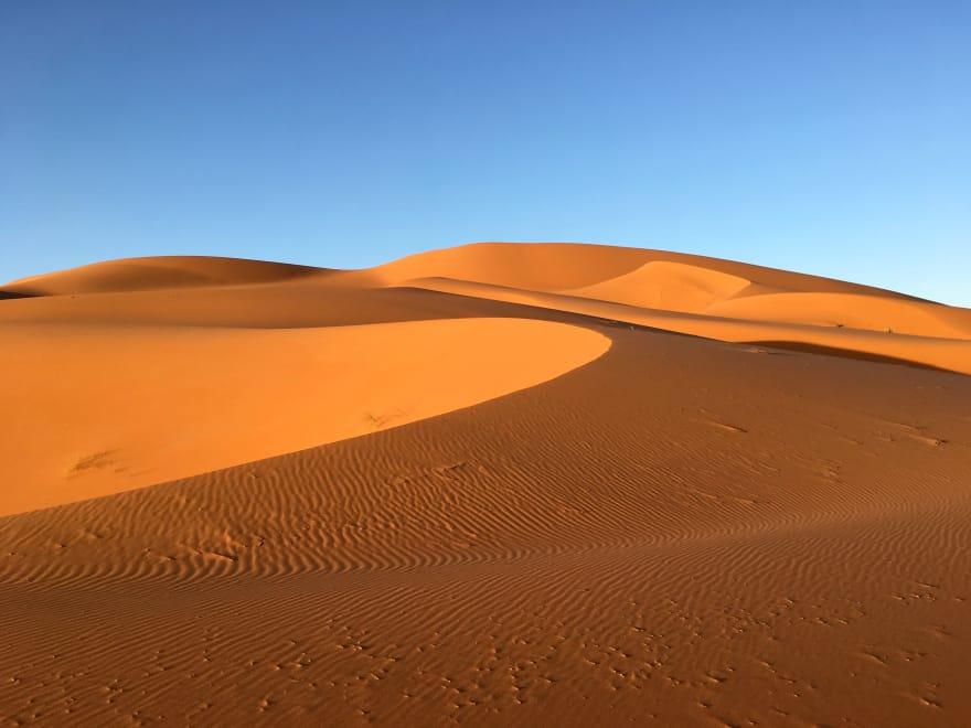 Desert in Morocoo