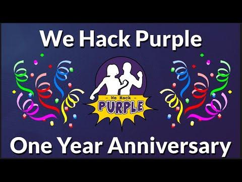 We HackPurple 1 Year Anniversary