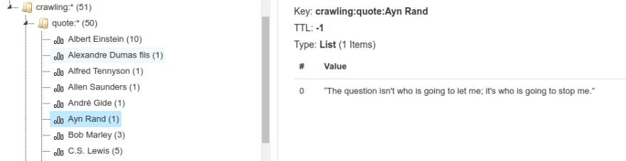 Crawler Quotes in Redis