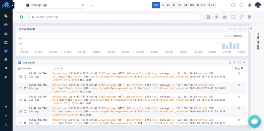 logs overview