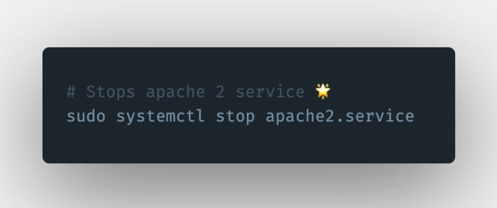 Cover image for How to stop an Apache 2 server or service in Linux?