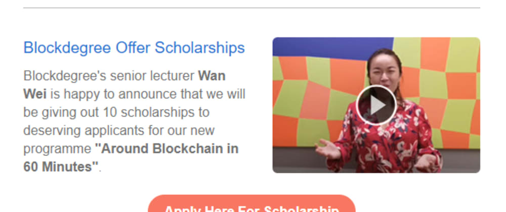Cover image for Apply for Blockdegree Scholarship.