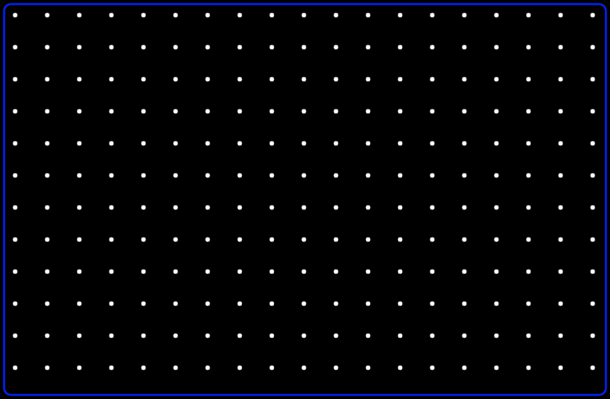 Dark image with repeating dots and a border surrounding everything