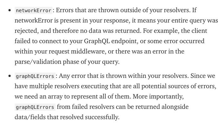 graphQLError vs networkError