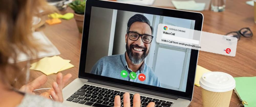 Cover image for EnableX Video Calling using Web Push Notification