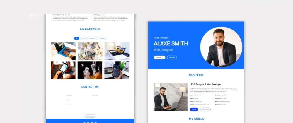 Cover image for Responsive Personal Portfolio Website using HTML, CSS, and JavaScript