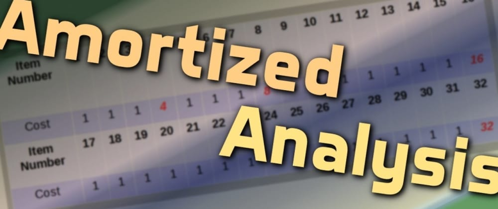 Cover image for Amortized Time Complexity
