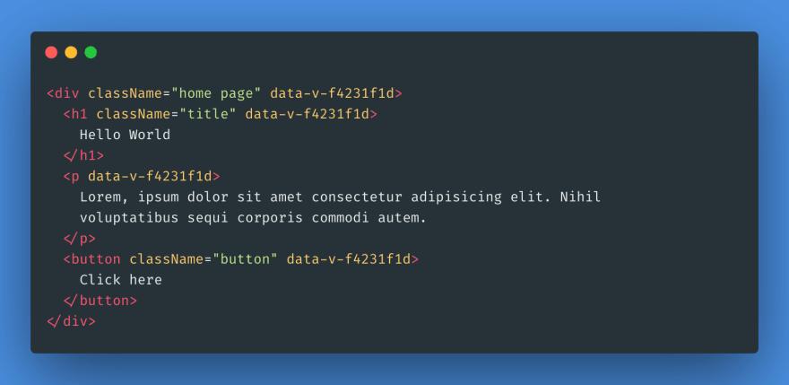 React CSS Scoped HTML