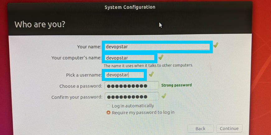 Jetson Nano system setup user/password