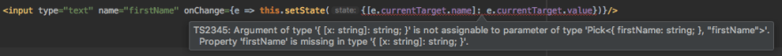 TypeScript is unable to specify down setState parameter types