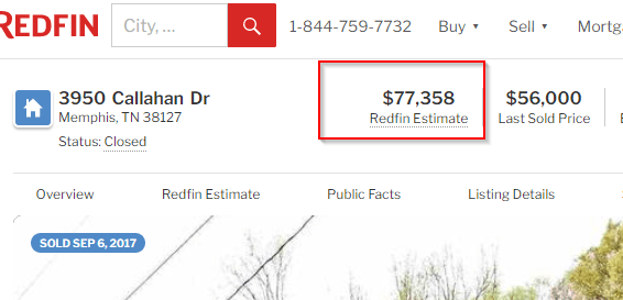 Redfin estimate.