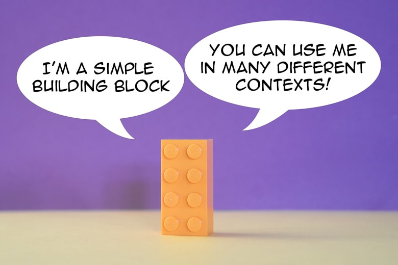 general concept of abstraction: a lego brick