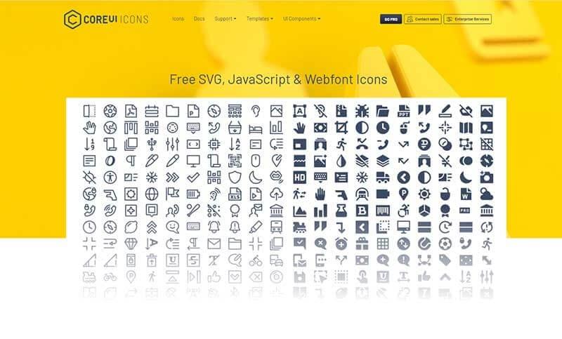 CoreUI Icons.