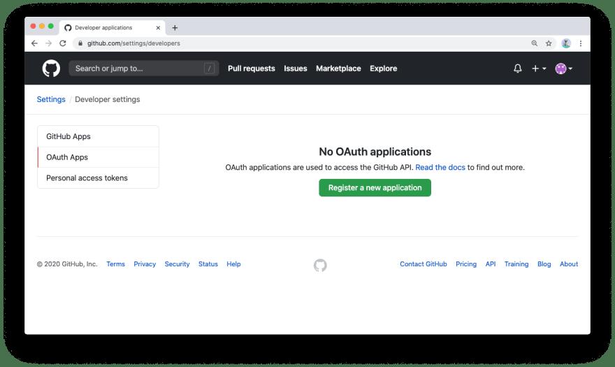 GitHub OAuth apps