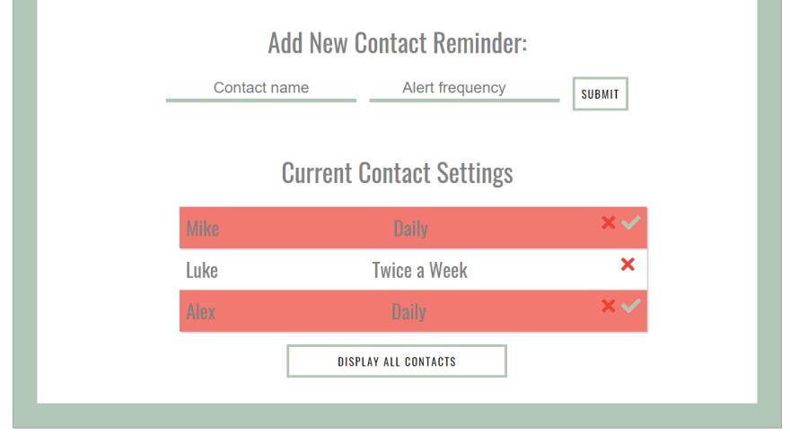 Screenshot correct Wellbean UI