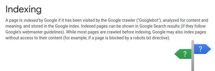 indexing by google