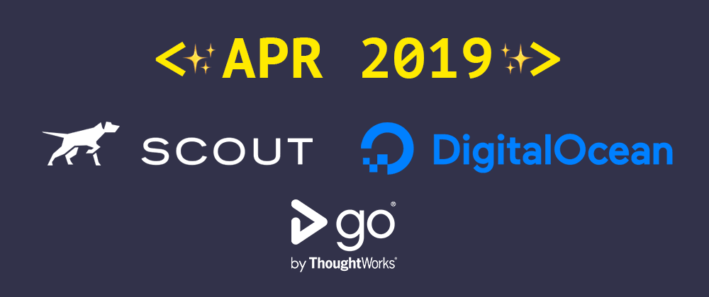 Cover image for Introducing our April 2019 sponsors