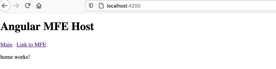 Host Landing page