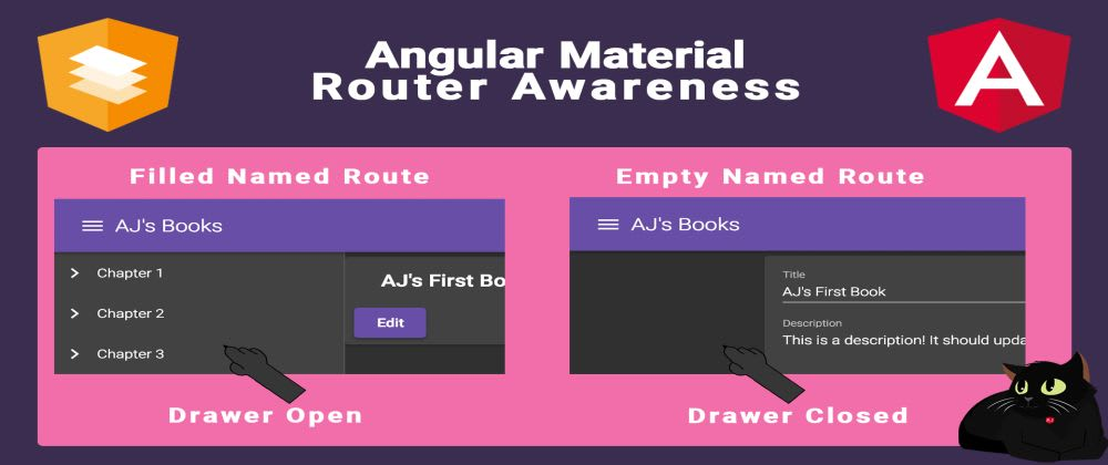 Cover image for Angular Material Router Awareness