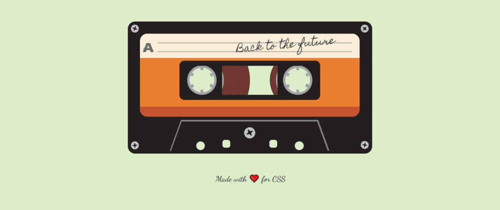 Cover image for Cassette tape in CSS 🎵