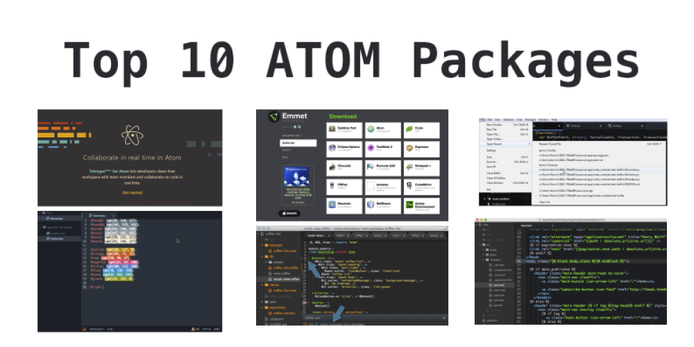 Top 10 ATOM Recommended Packages in 2018 - DEV Community