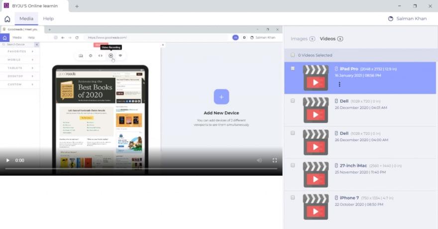 lt browser video gallery