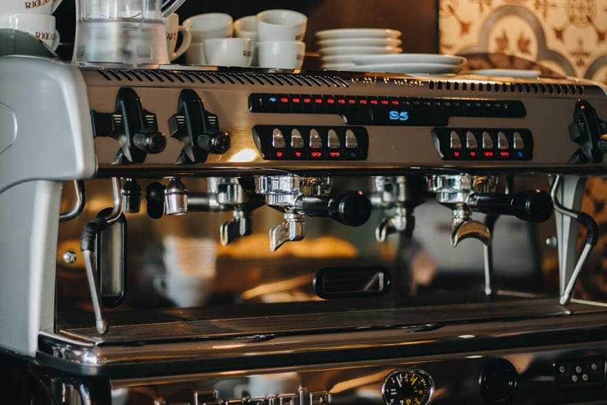 Picture of a commercial espresso machine