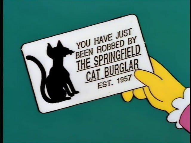 Simpsons meme cat burglar