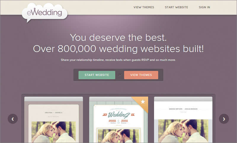 eWedding Free Website Maker